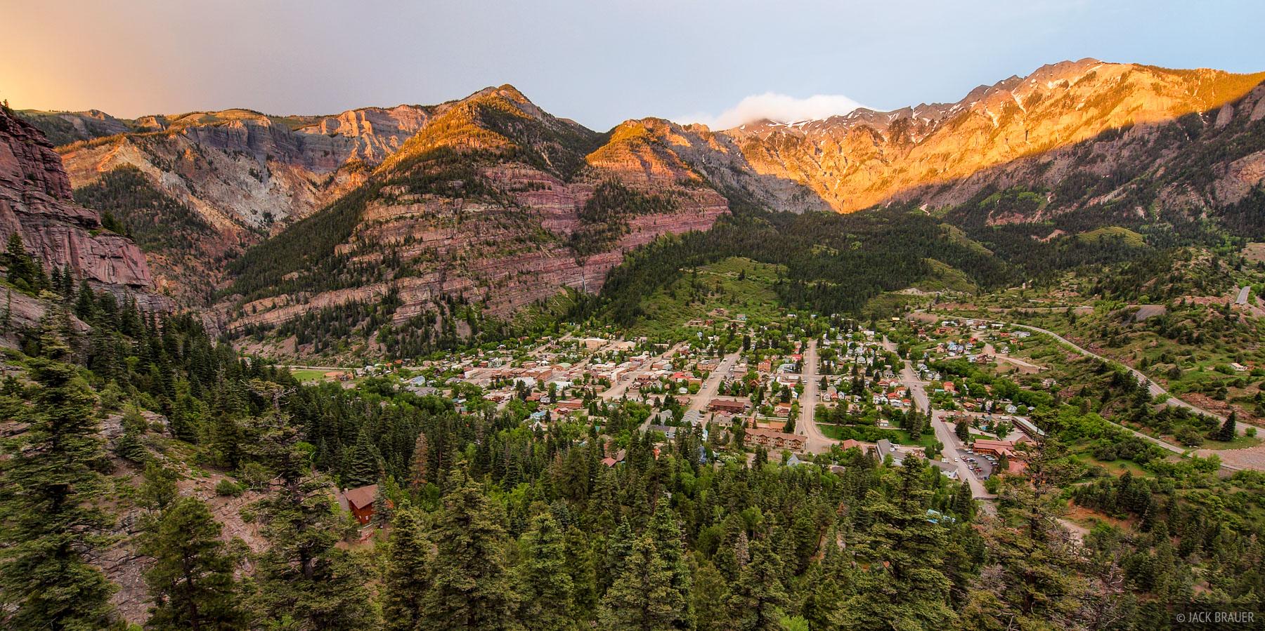 Alpenglow Over Ouray Ouray Colorado Mountain