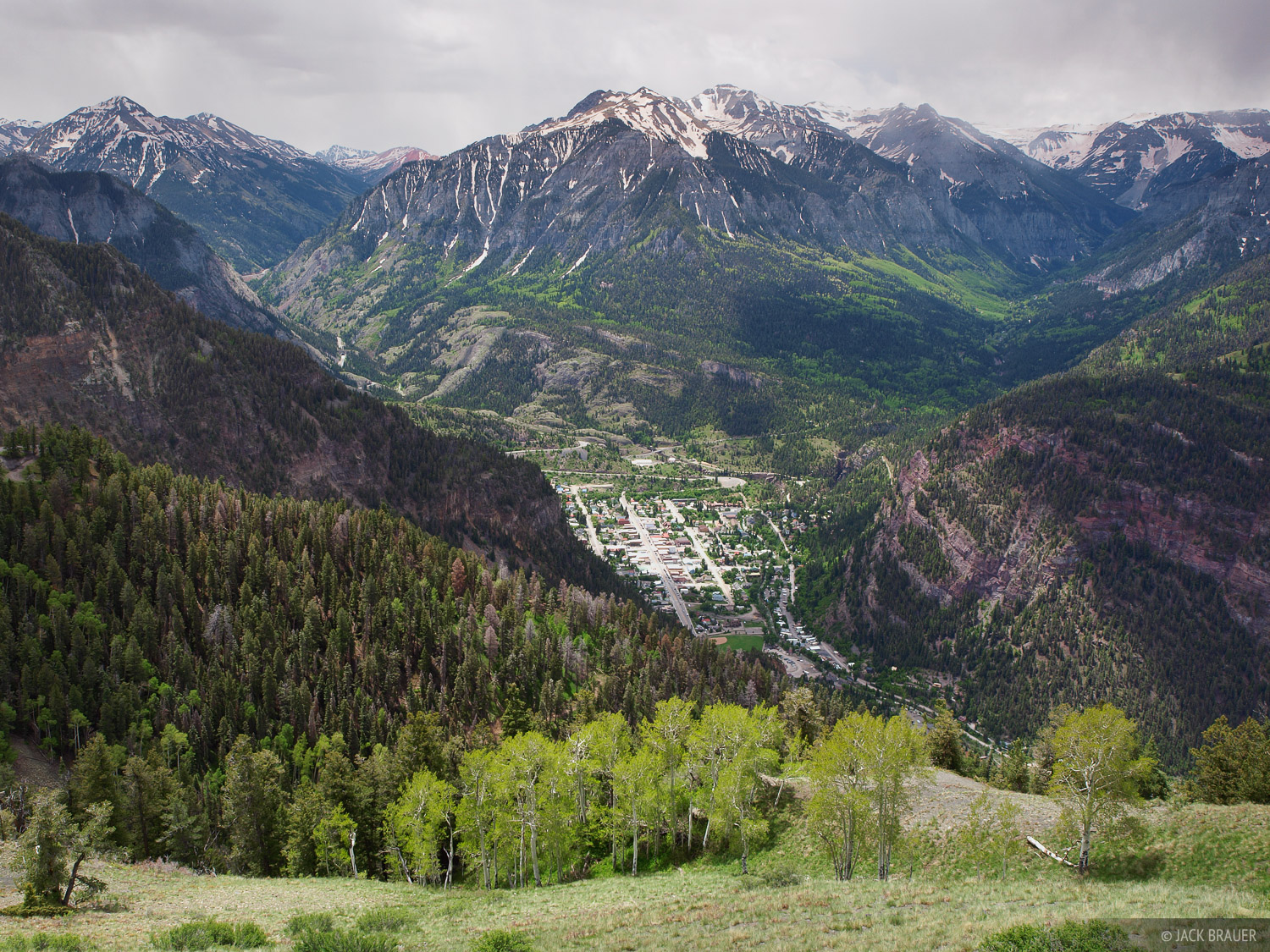 springtime over ouray ouray  colorado mountain