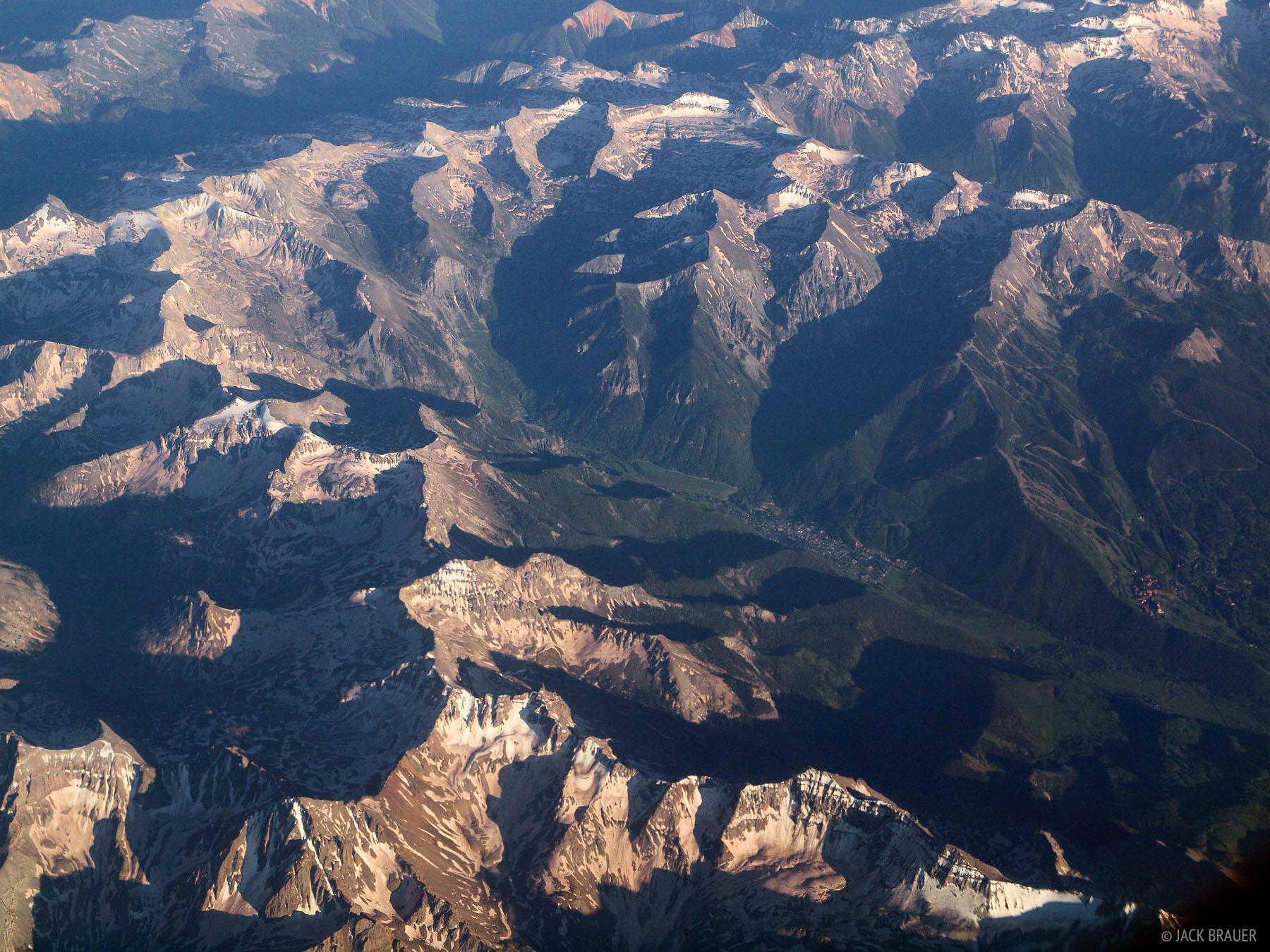 Telluride, aerial, Colorado, San Juan Mountains, photo