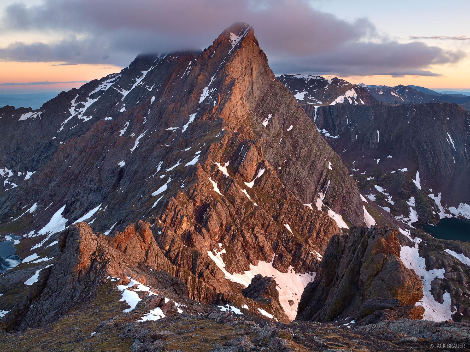 Crestone Needle, Broken Hand Peak, Sangre de Cristos, Colorado, Sangre de Cristo Wilderness, photo