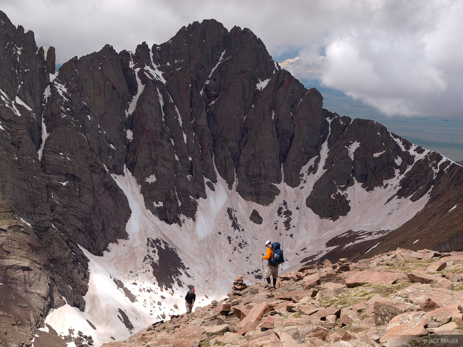 hikers, Humboldt Peak, Crestone Peak, Sangre de Cristos, Colorado, Sangre de Cristo Wilderness, photo