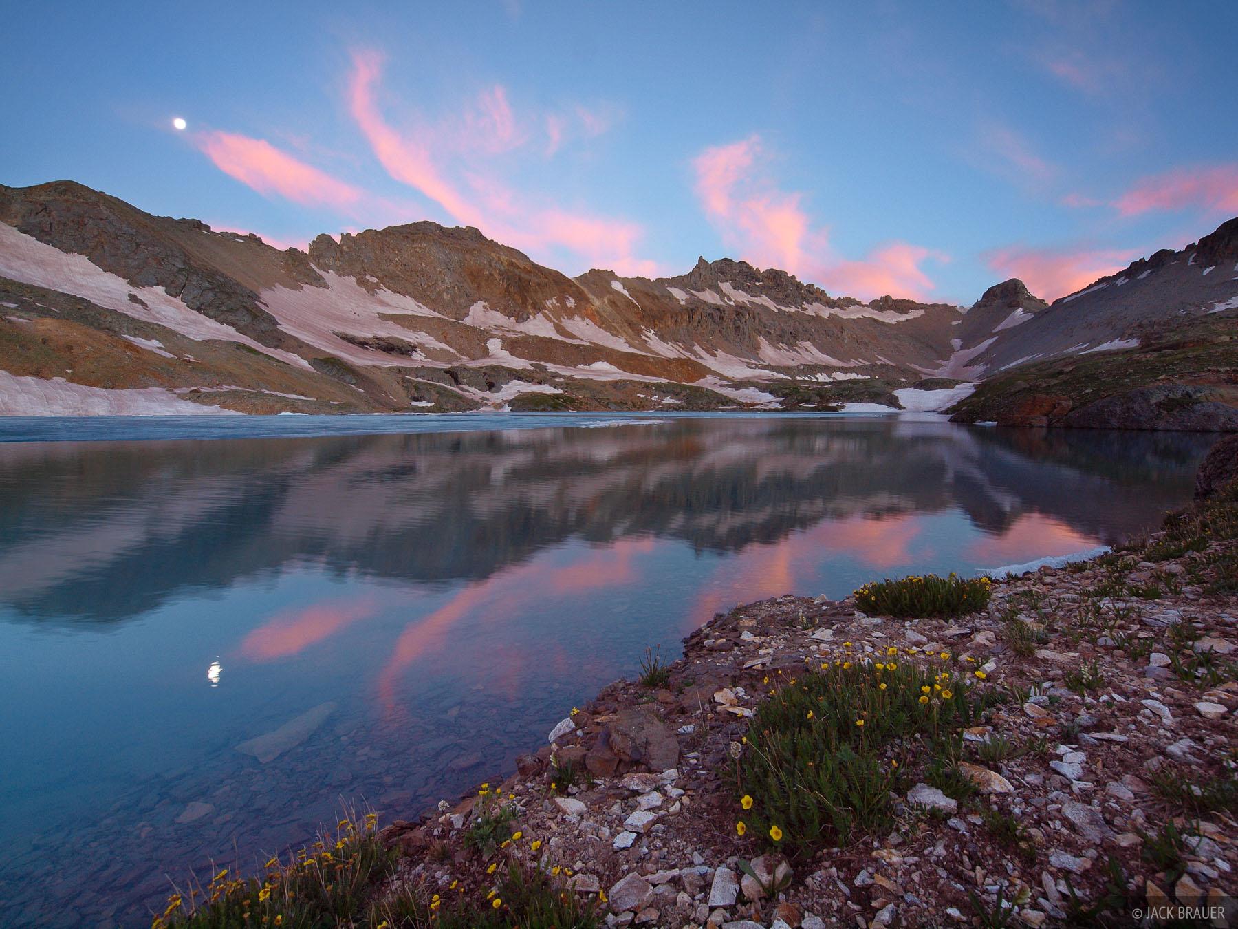 Columbine Lake, Lookout Mountain, sunrise, San Juan Mountains, Colorado, photo