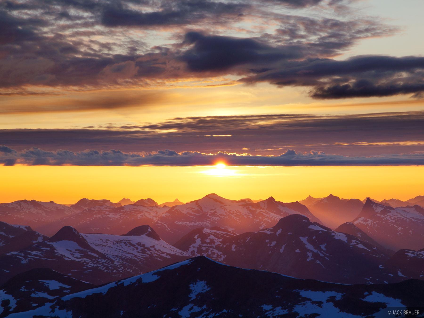 Sunnmøre, Norway, Skåla, sunset, Jostedalsbreen, photo