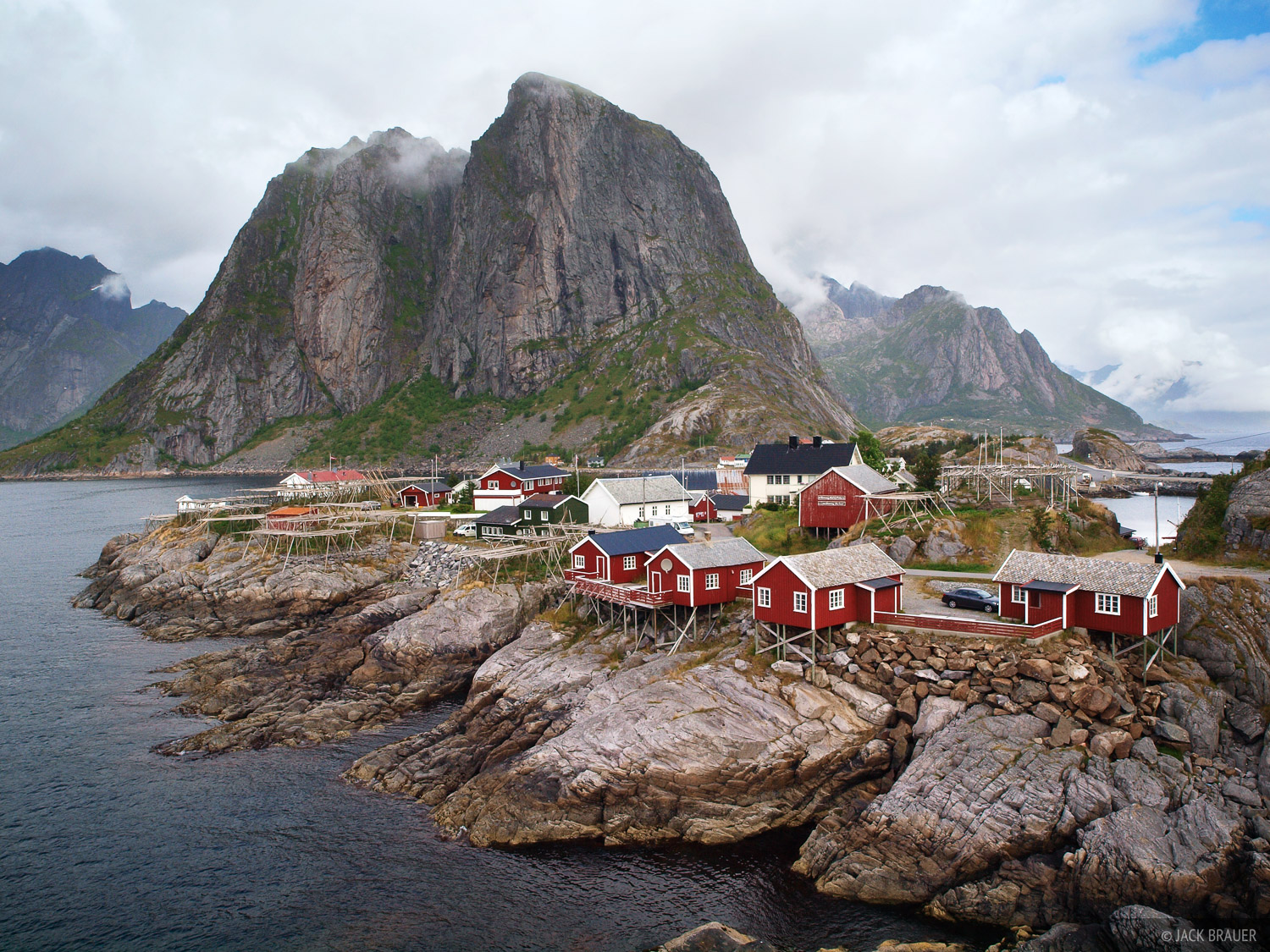 Hamn ya rorbus lofoten norway mountain photography by for Fishing in norway