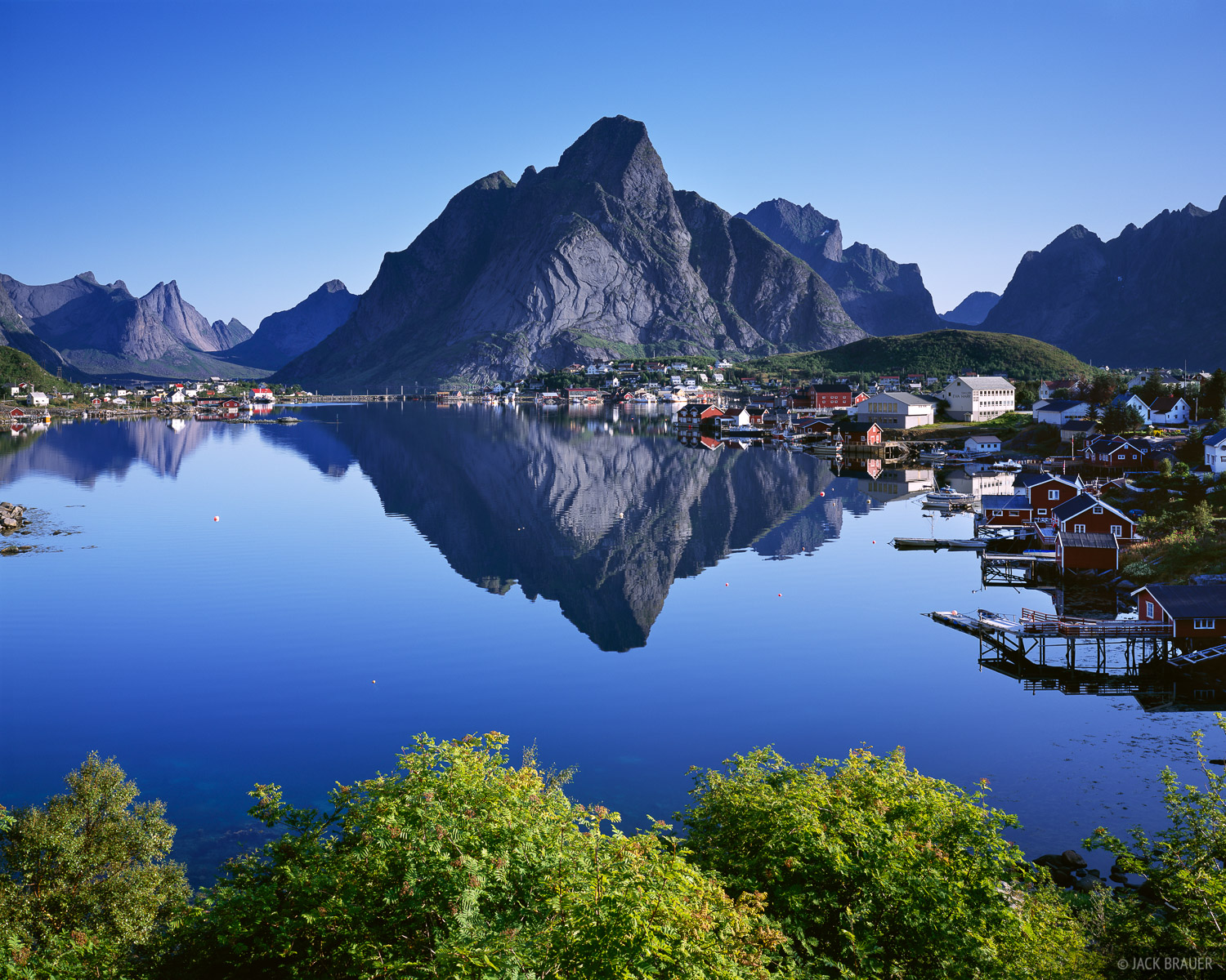 Reine, reflection, Lofoten, Norway, Moskenesøya, photo