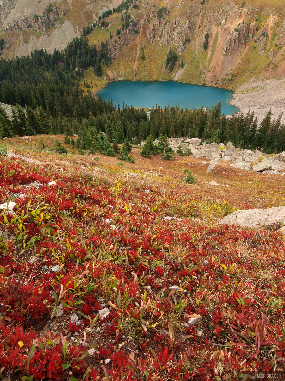 autumn, tundra, Blue Lake, Sneffels Range, Colorado, photo