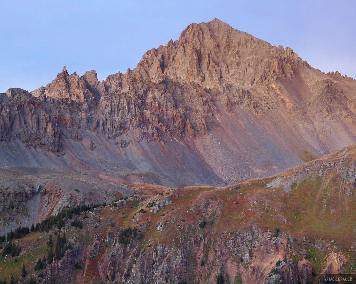 Mt. Sneffels, September, sunset, San Juan Mountains, Colorado, photo