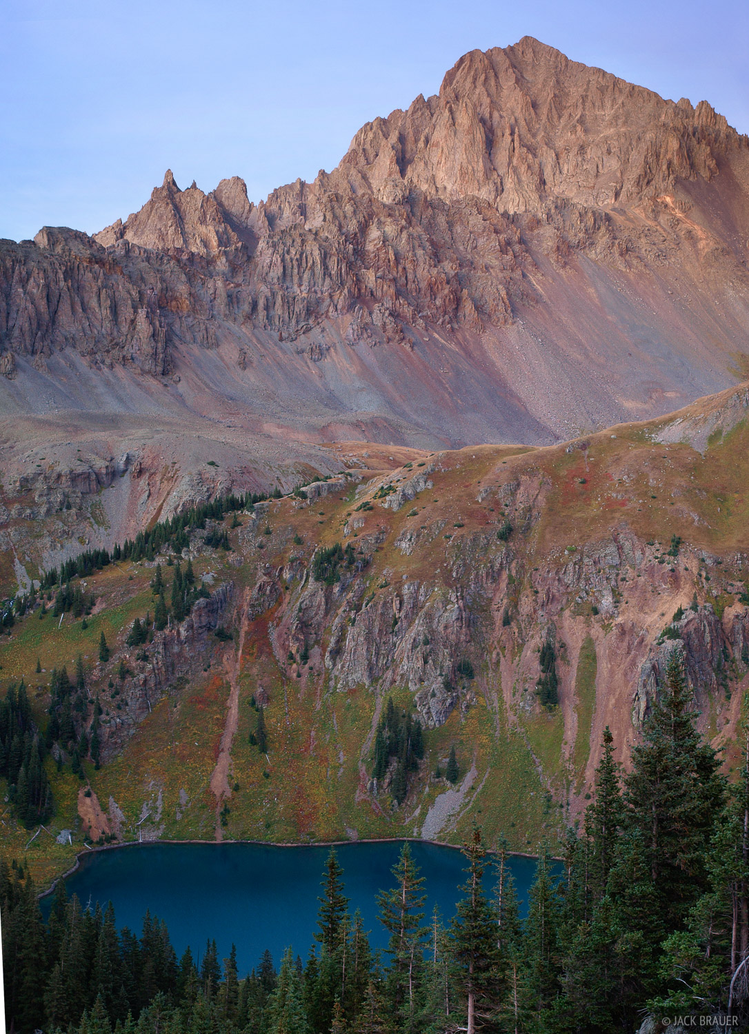 Mt. Sneffels, fourteener, Blue Lake, San Juan Mountains, Colorado, photo