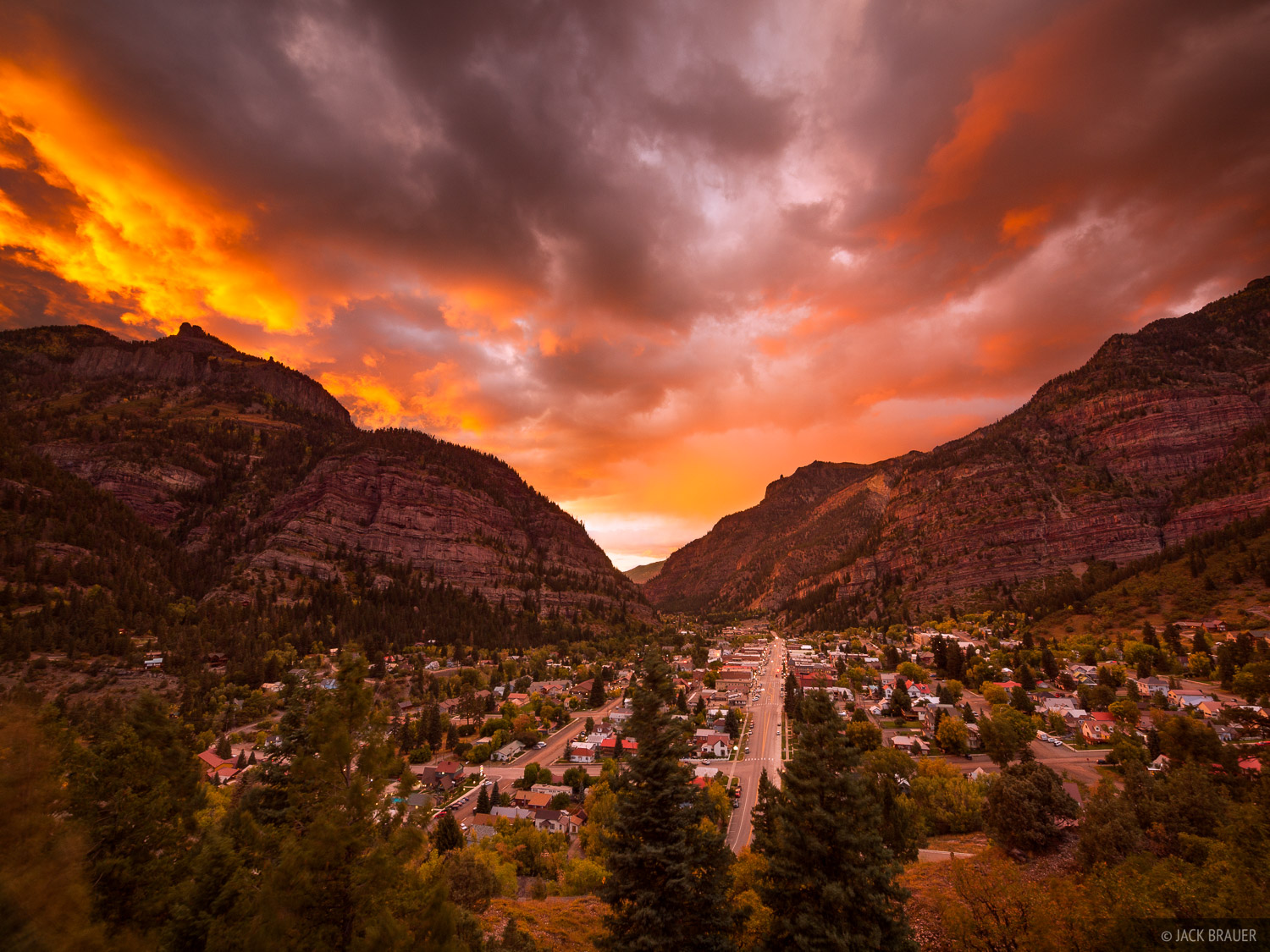 Ouray, sunset, Colorado, photo