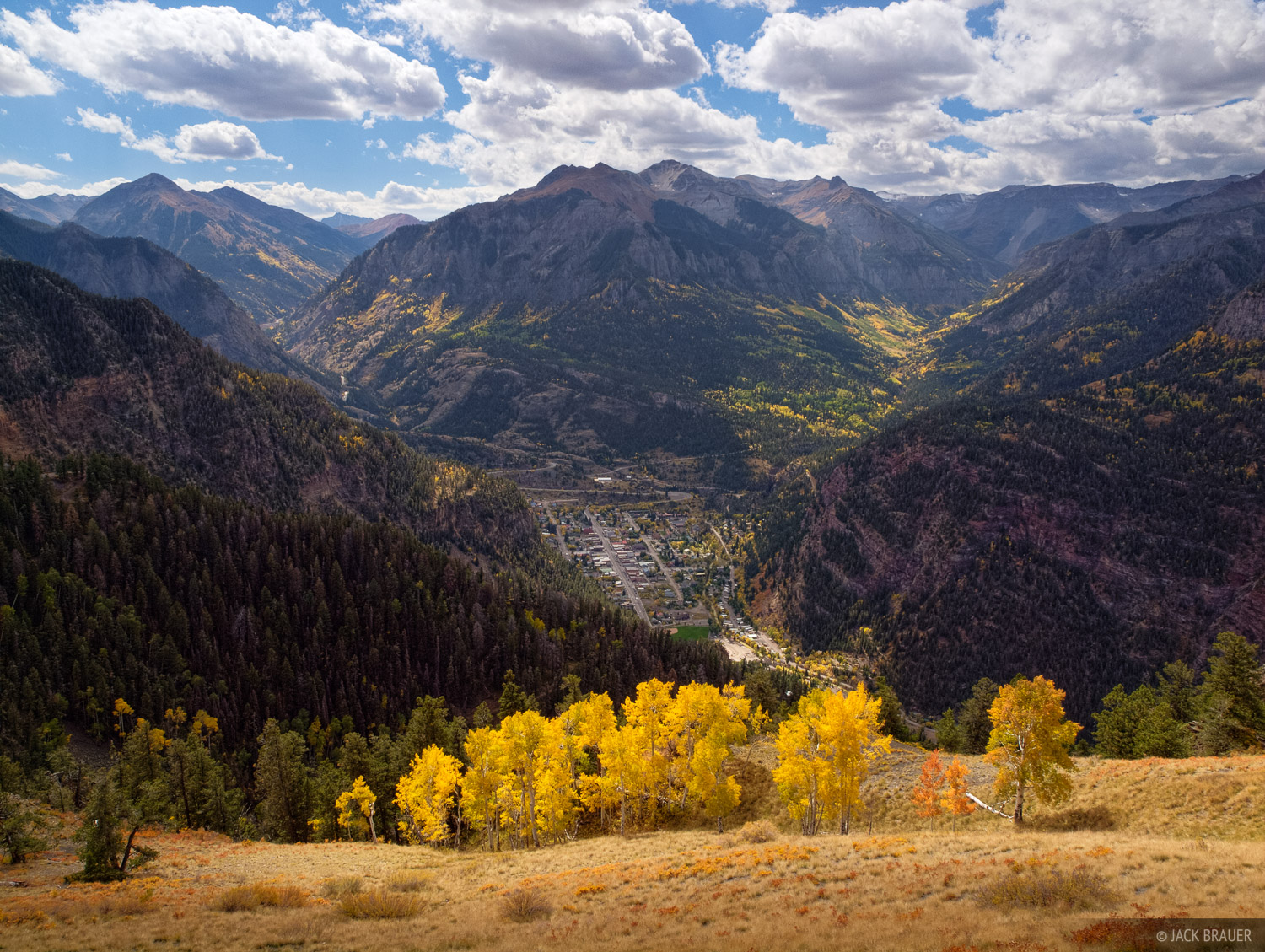 Ouray, Colorado, aspens, autumn, September, photo