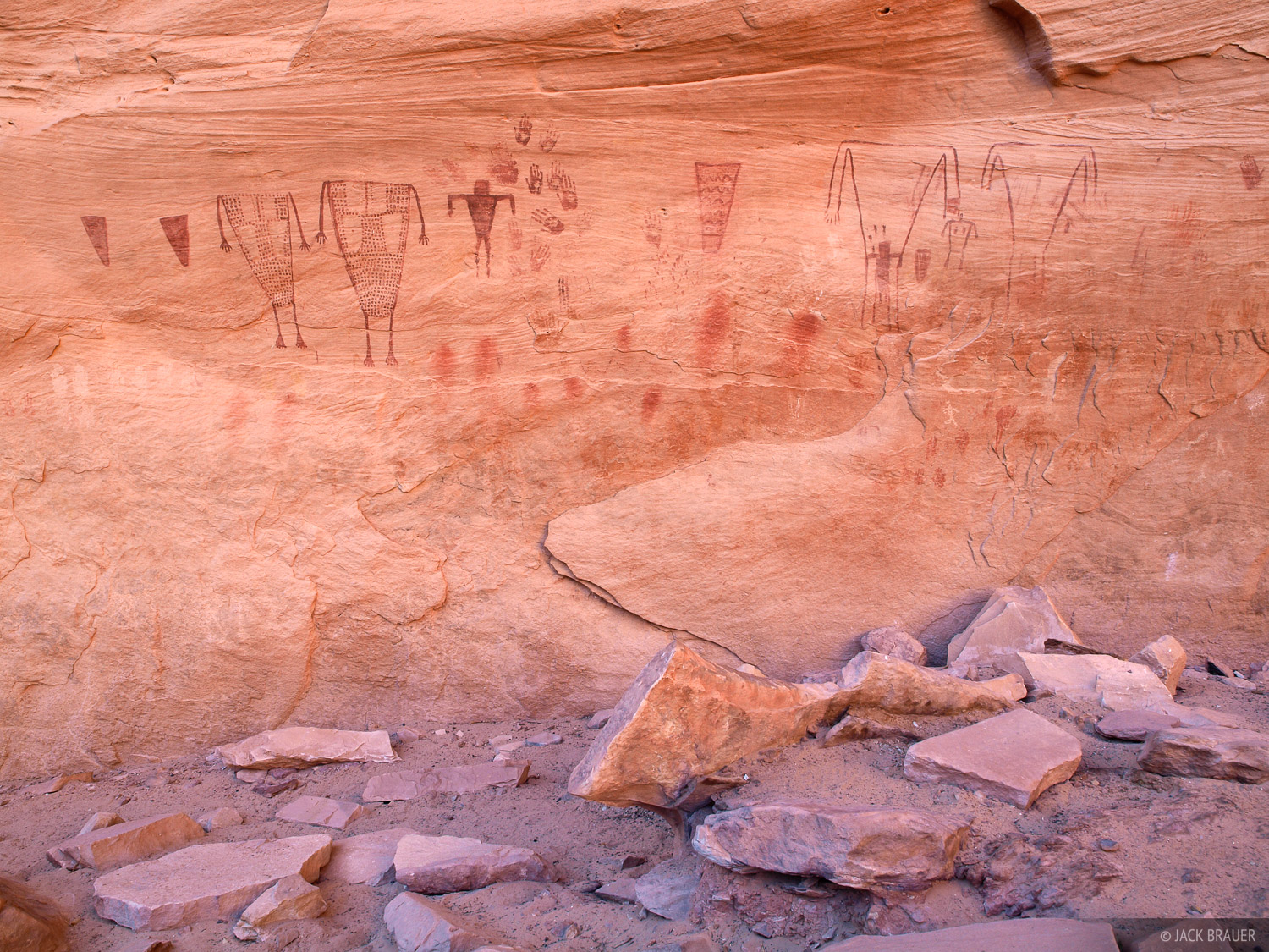 Pictographs, Grand Gulch, Utah, Bears Ears National Monument, photo