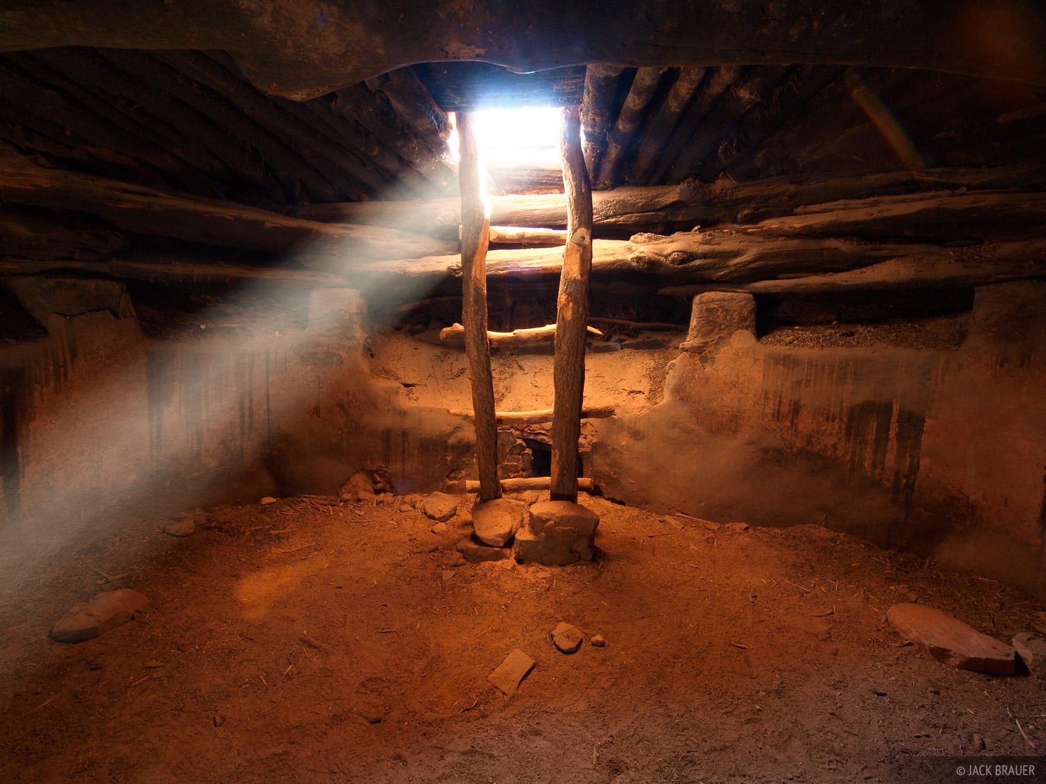 Supposedly this kiva was discovered intact in the 1890s, but by the 1970s the roof was starting to collapse. Restoration efforts...