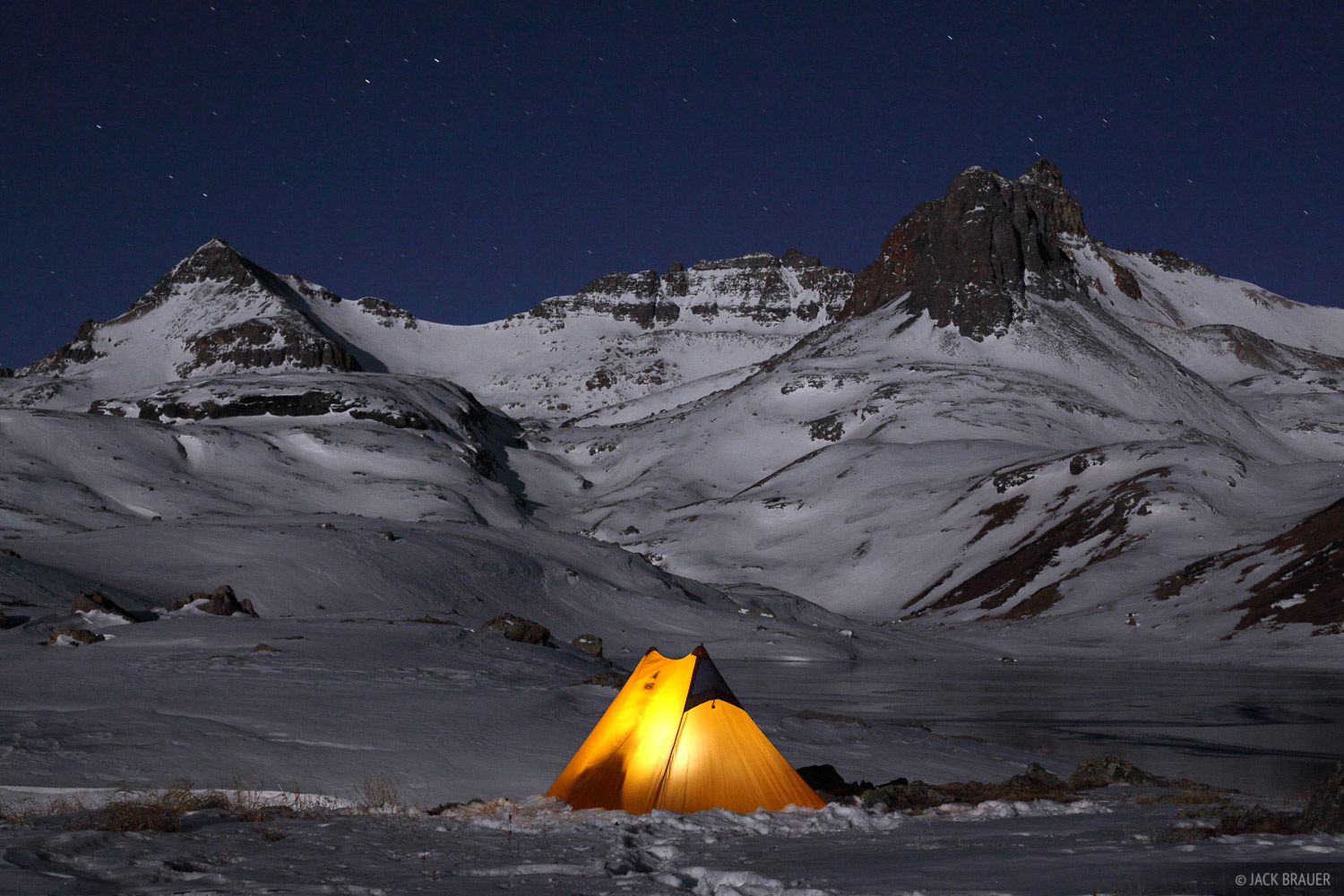 Winter camping at Ice Lakes.