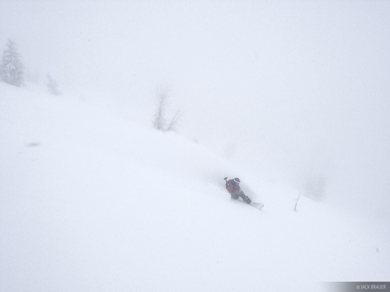 Snowboarding, powder, tetons, wyoming, december, photo