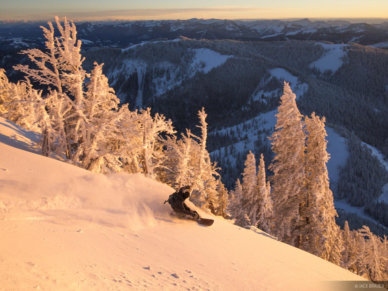 snowboarding, Jackson Hole, Wyoming, Teton Pass, sunset, photo