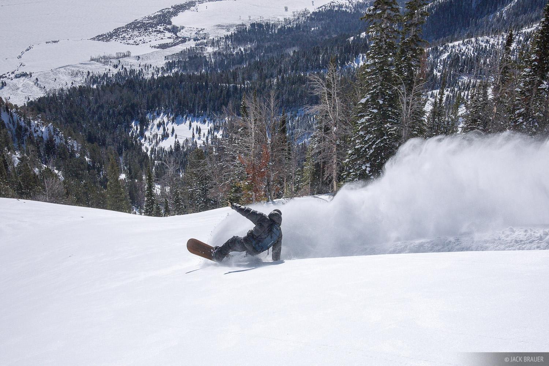 wheelie, snowboarding, Jackson Hole, Wyoming, photo