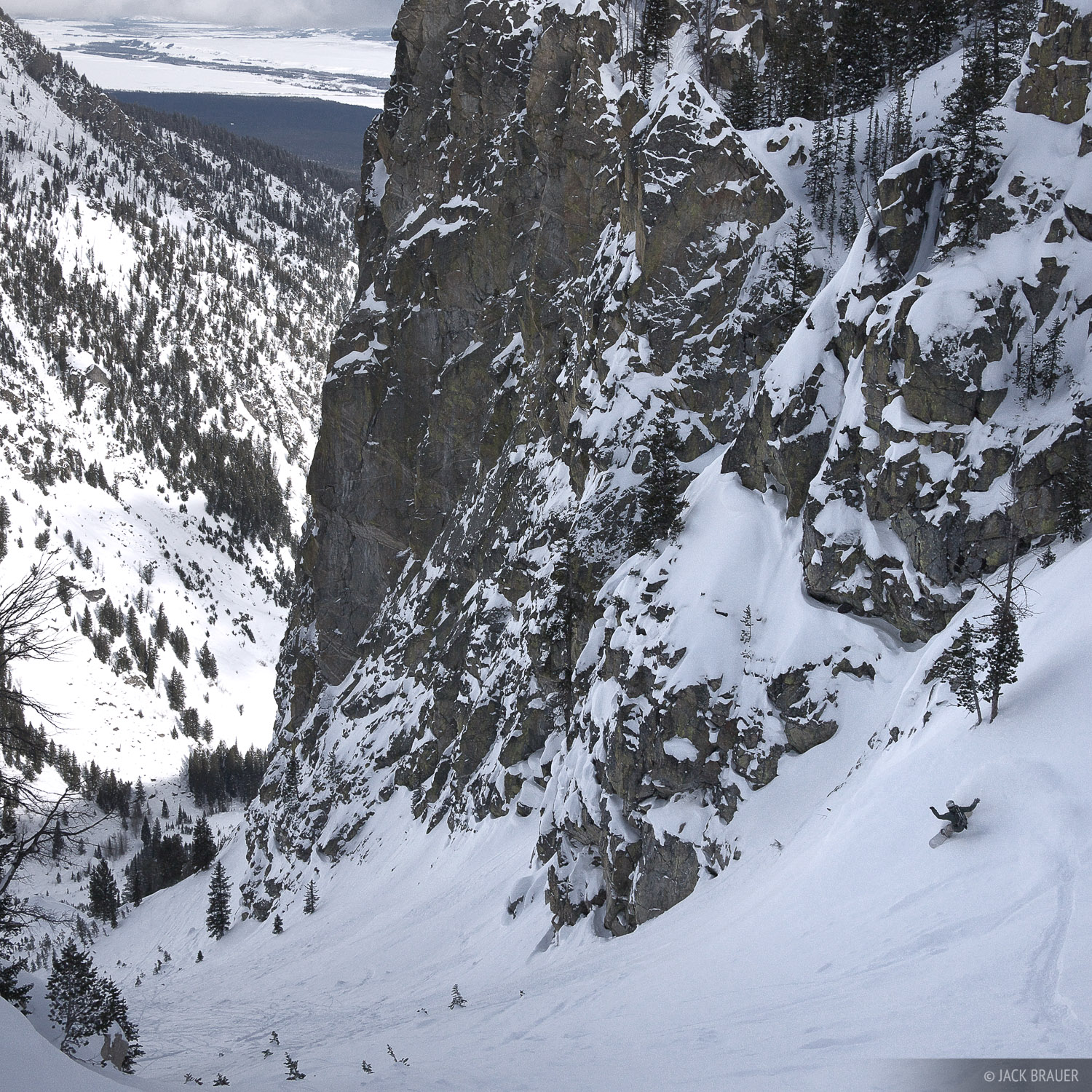 snowboarding, Jackson Hole, Wyoming, Endless Couloir, photo
