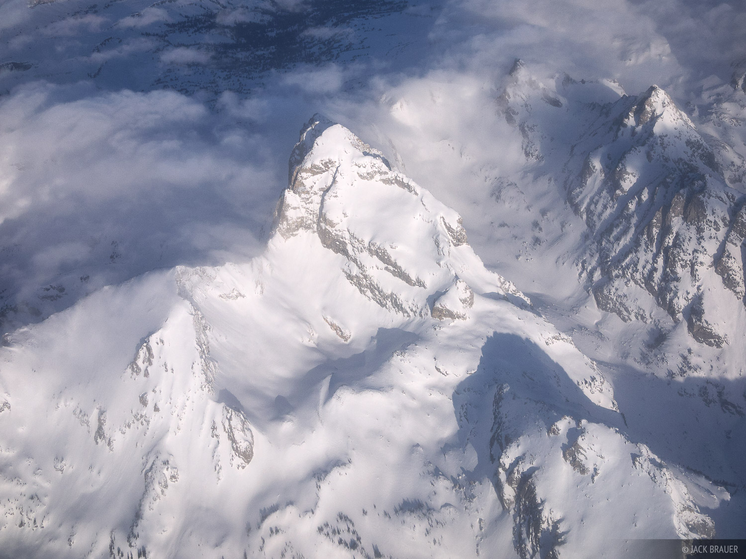 Buck Mountain, aerial, Static Peak, Tetons, Wyoming, photo