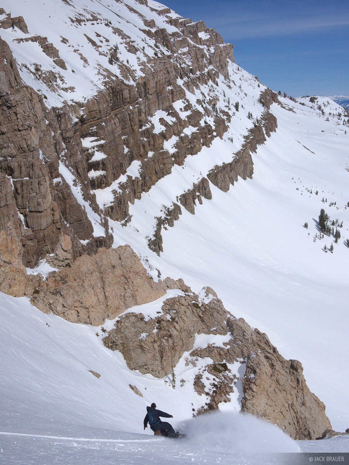 Jensen Canyon, snowboarding, Jackson Hole, Wyoming, photo
