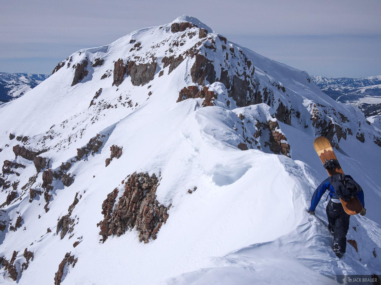 hiking, ridgeline, Jackson Hole, Wyoming, photo