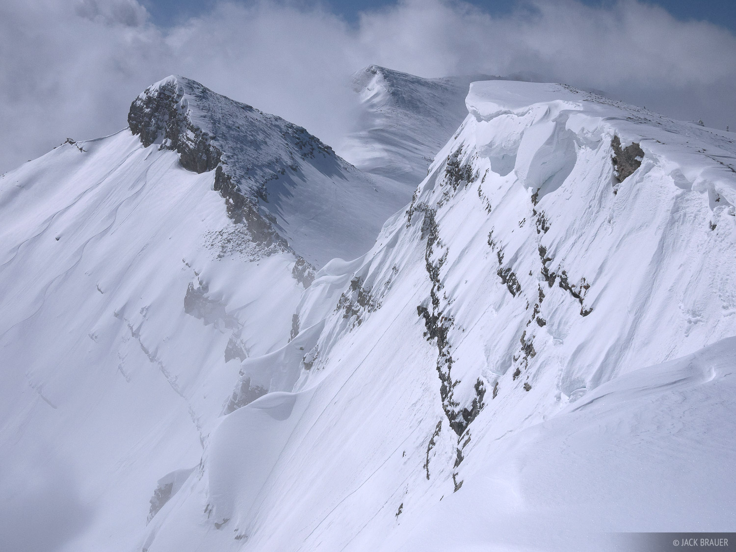 A view of the rugged Jackson Hole backcountry - March.