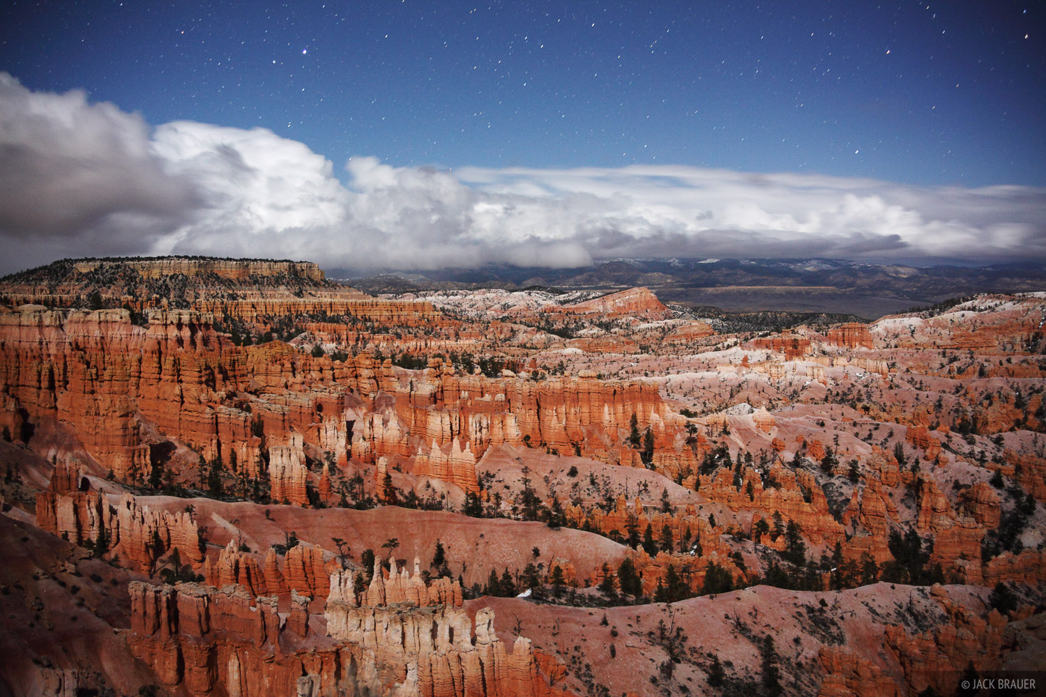Bryce Canyon, moonlight, national park, Utah, photo