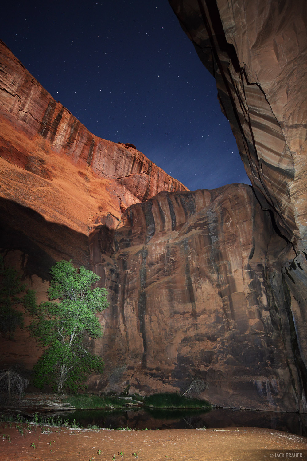moonlight, flashlight painting, Escalante, Utah, Glen Canyon National Recreation Area, photo