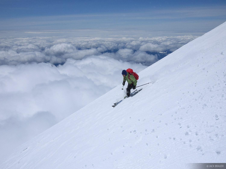 skiing, Mt. Adams, Washington, photo