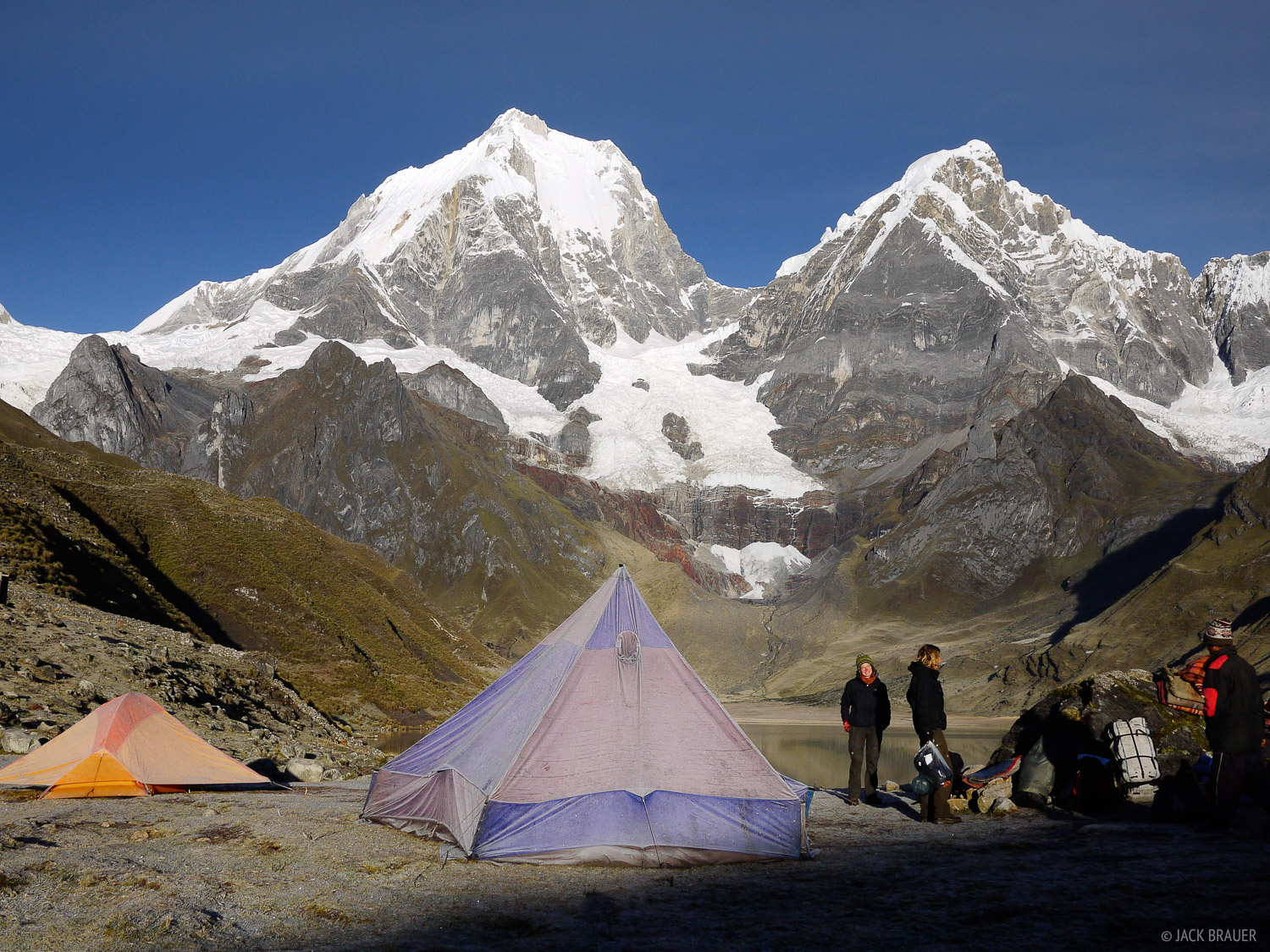 Cordillera Huayhuash, Peru, South America, tent, photo
