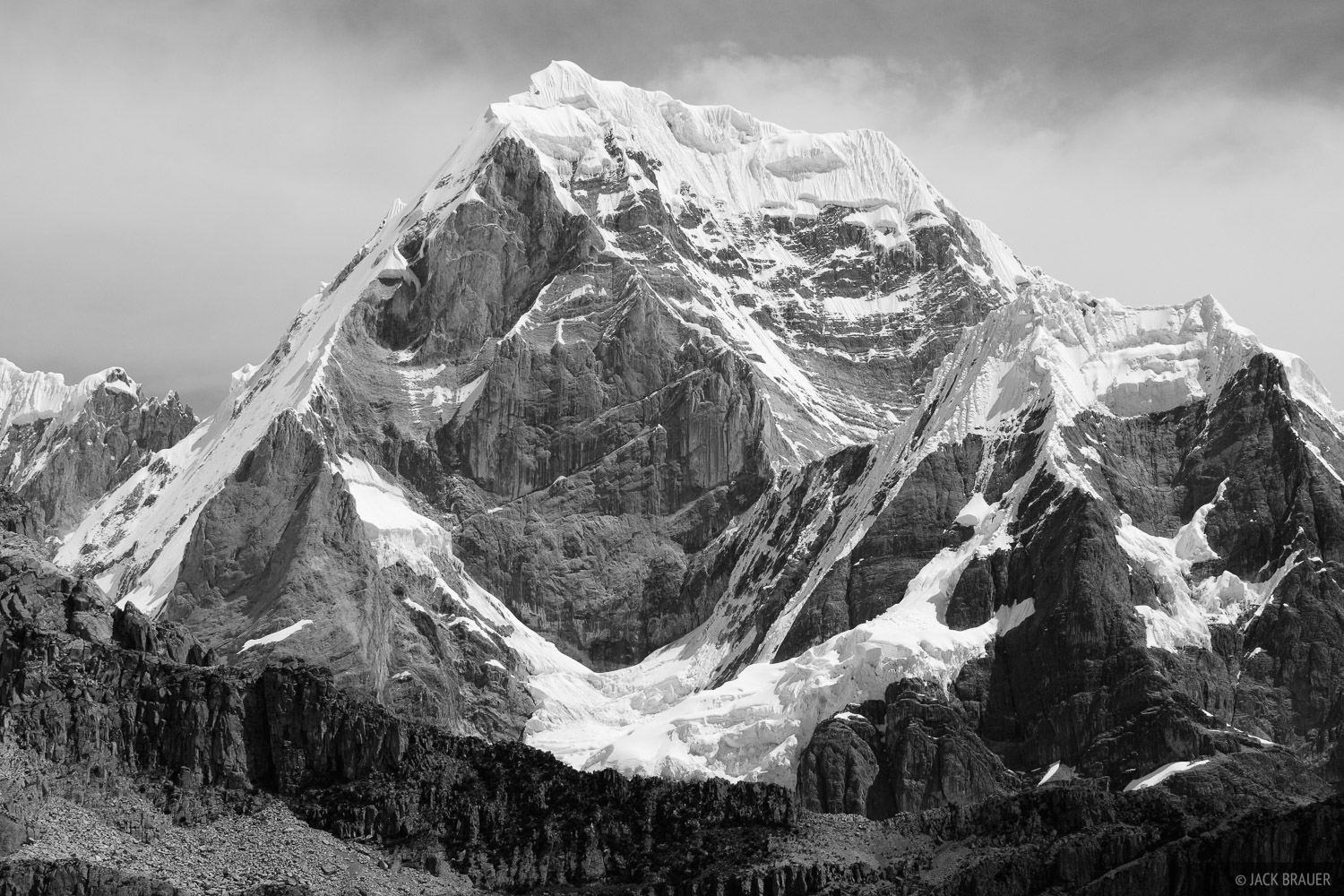 The western face of Siula (6344m, 20,814 ft.).