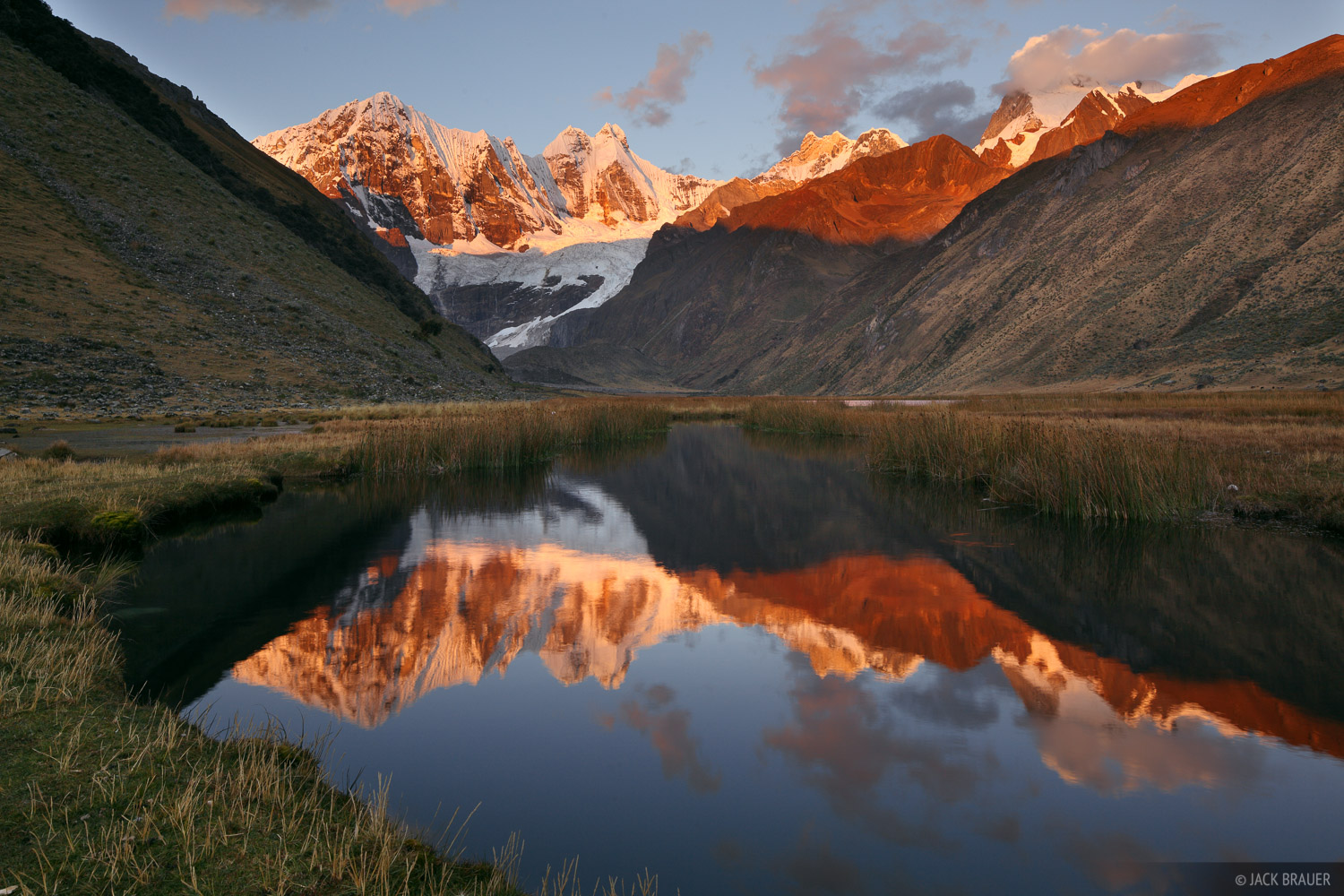 Jirishanca, Cordillera Huayhuash, Peru, Laguna Jahuacocha, sunset, reflection, photo
