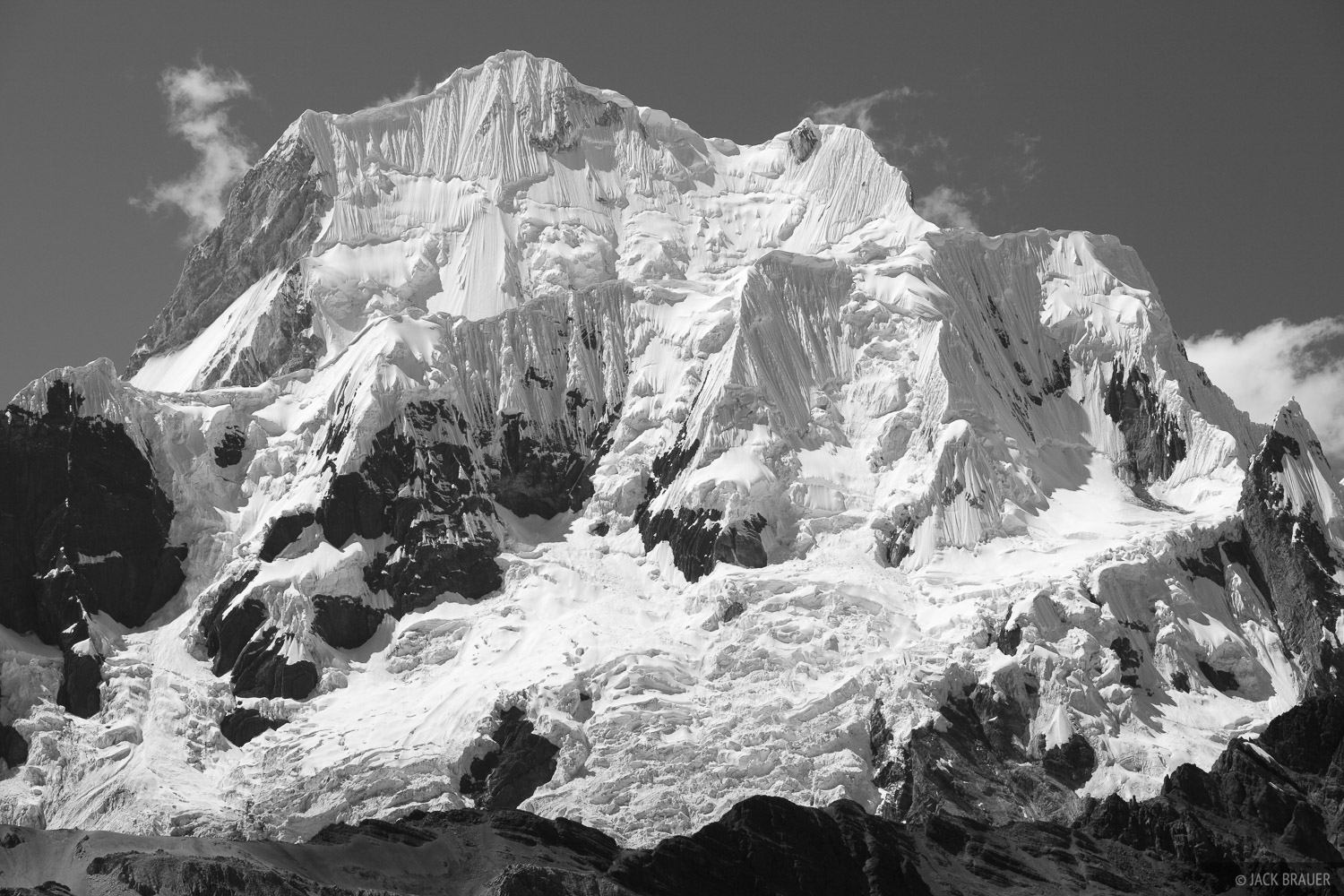 Mountains in black white mountain photography by jack brauer