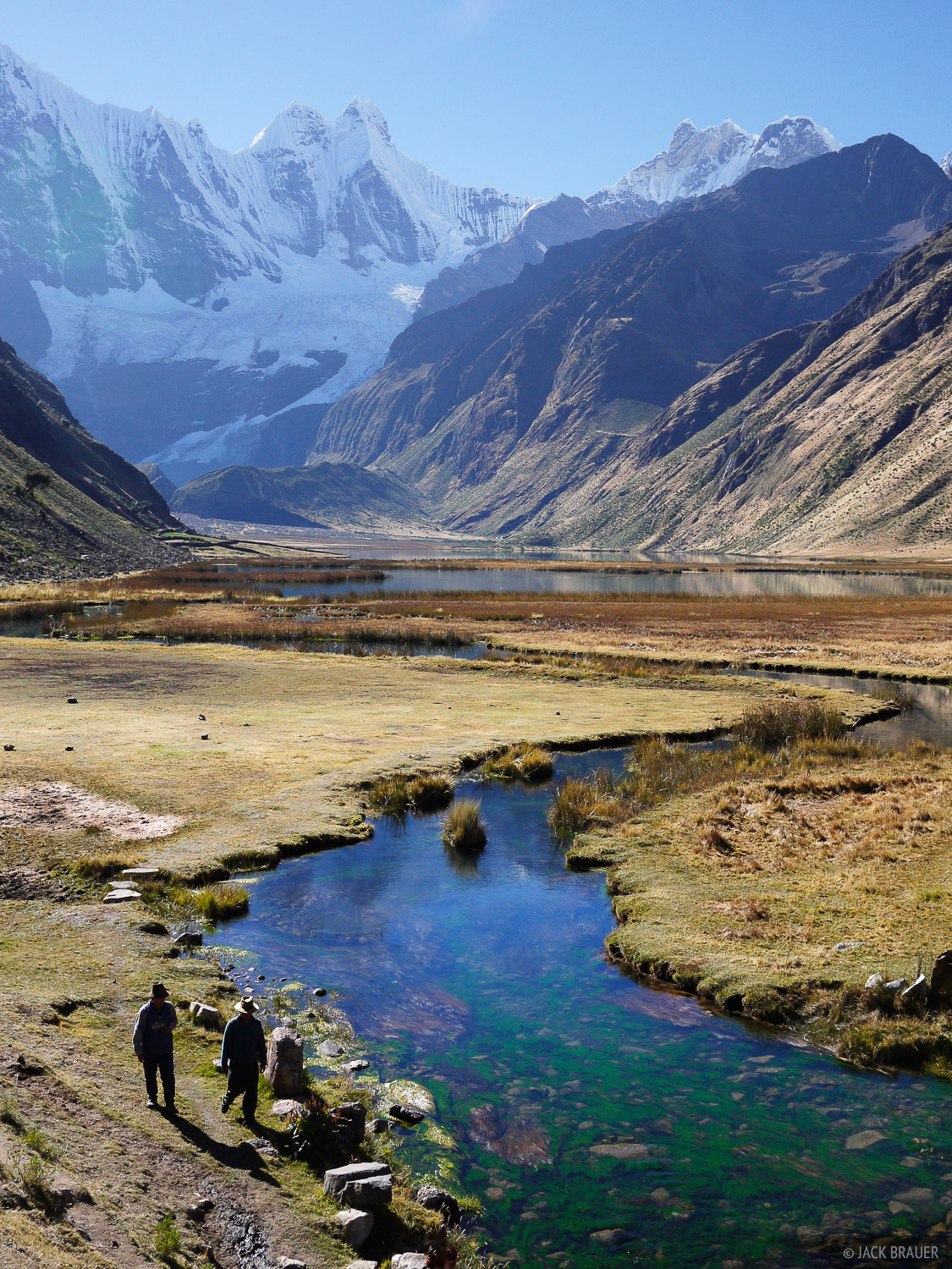 Jirishanca, Cordillera Huayhuash, Peru, stream, lake, photo
