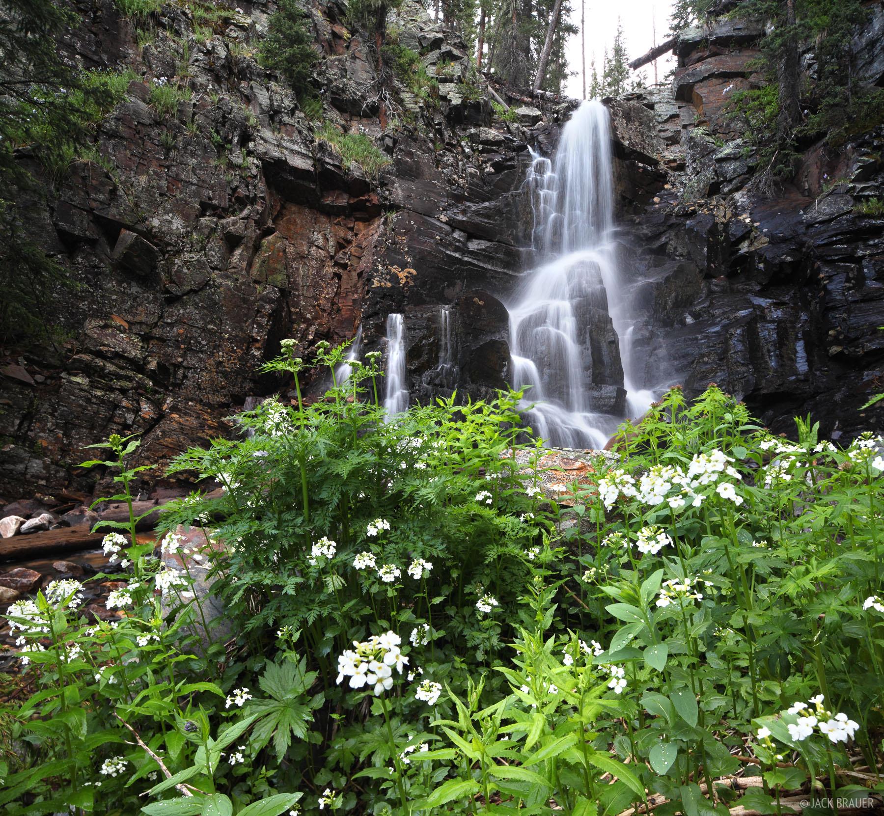 Vallecito Creek, waterfall, Weminuche Wilderness, Colorado, photo