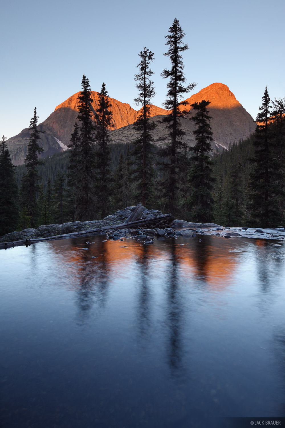 Vallecito Creek, sunrise, Guardian, Silex, San Juan Mountains, Colorado, photo
