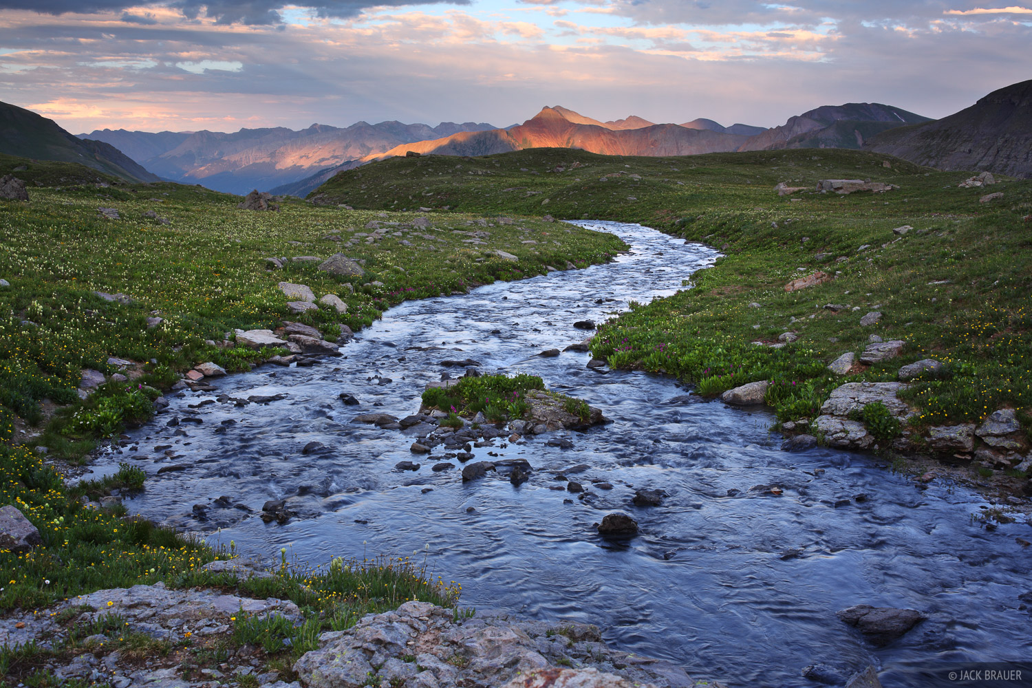 Ice Lakes Basin, sunset, San Juan Mountains, Colorado, photo