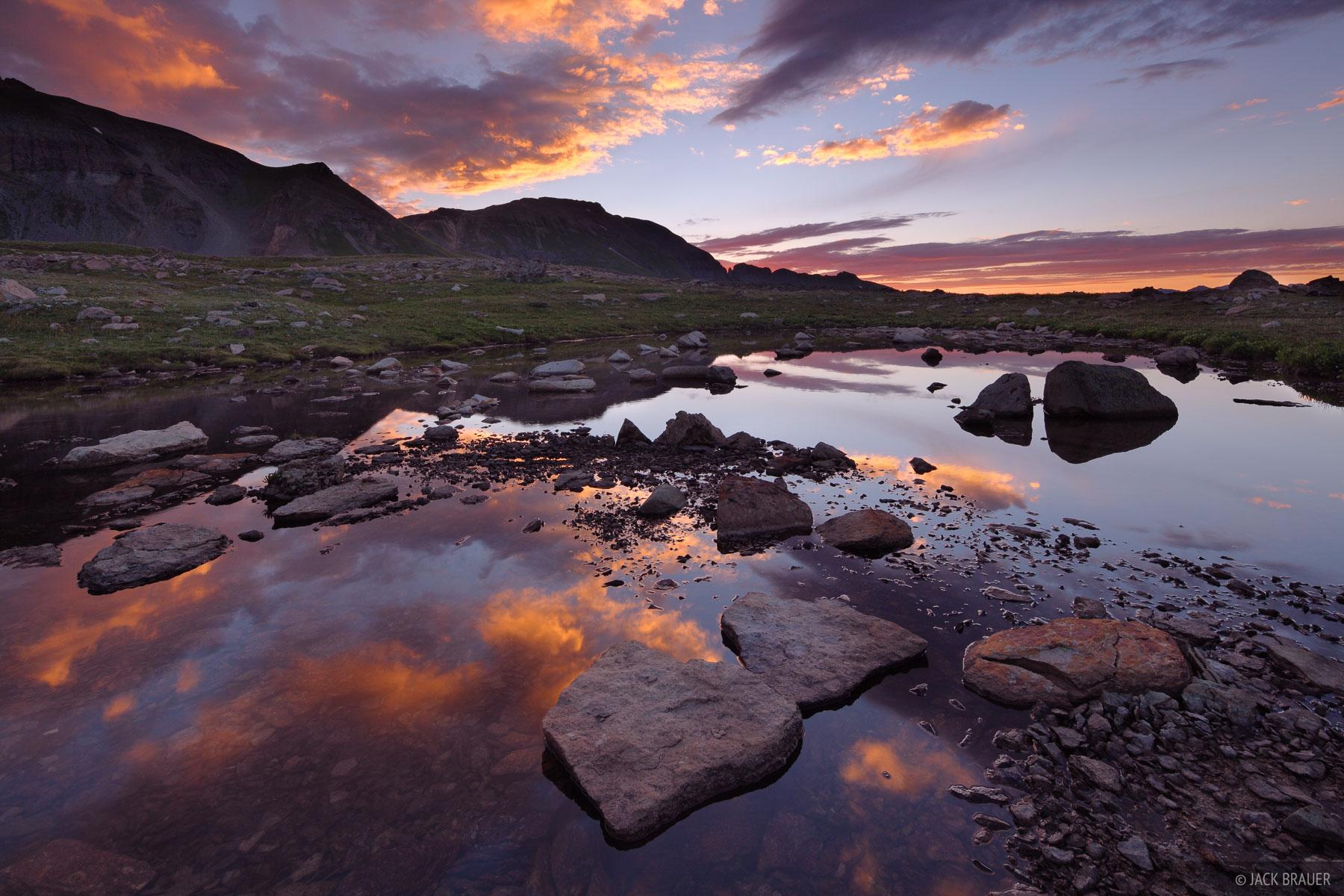 Ice Lakes Basin, San Juan Mountains, Colorado, sunrise, photo