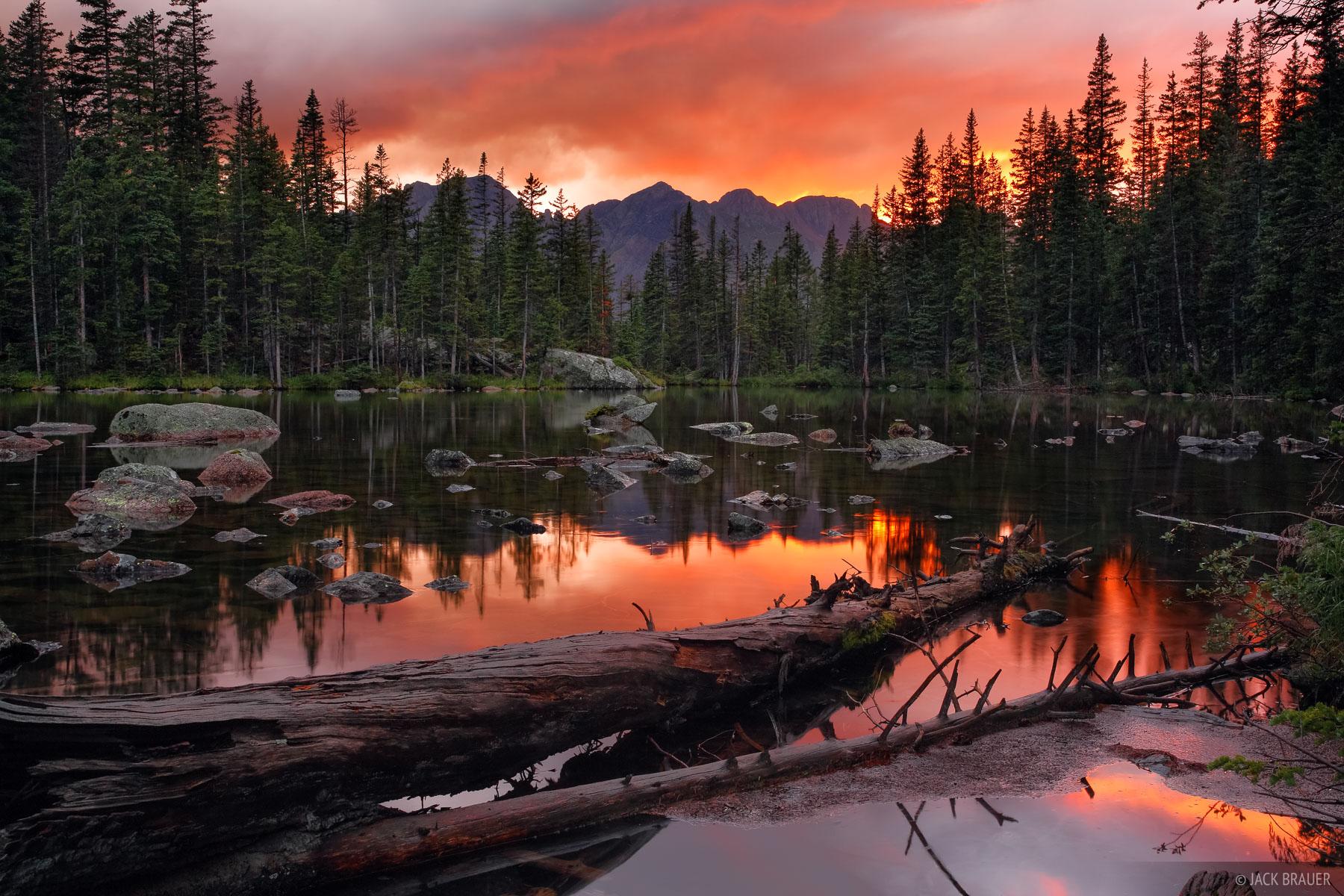 sunset west needle mountains colorado san juan mountains photo