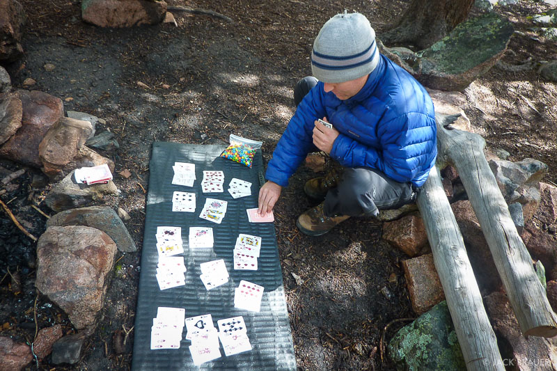 Rummikub in the Weminuche Wilderness, Colorado