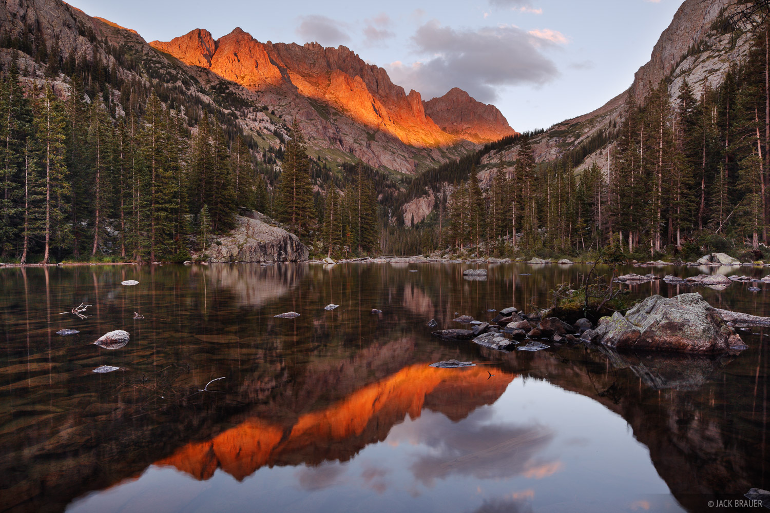 Animas Mountain, Monitor Peak, San Juan Mountains, Colorado, sunset, photo