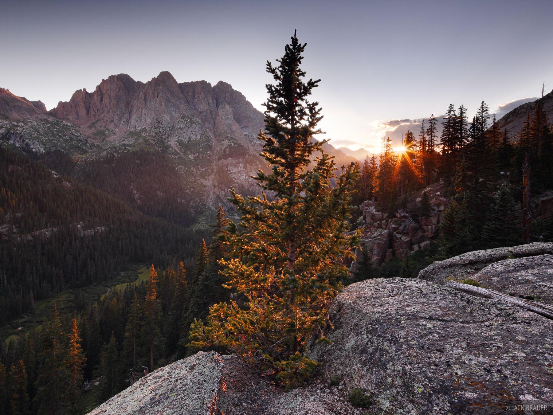 San Juan Mountains, Needle Mountains, Colorado, sunset, Weminuche Wilderness, photo