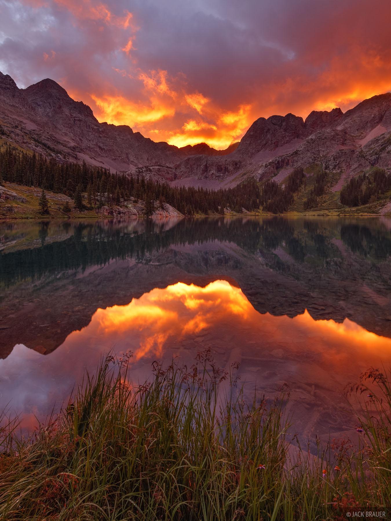 Weminuche Wilderness, Grenadier Range, San Juan Mountains, Colorado, sunrise, photo
