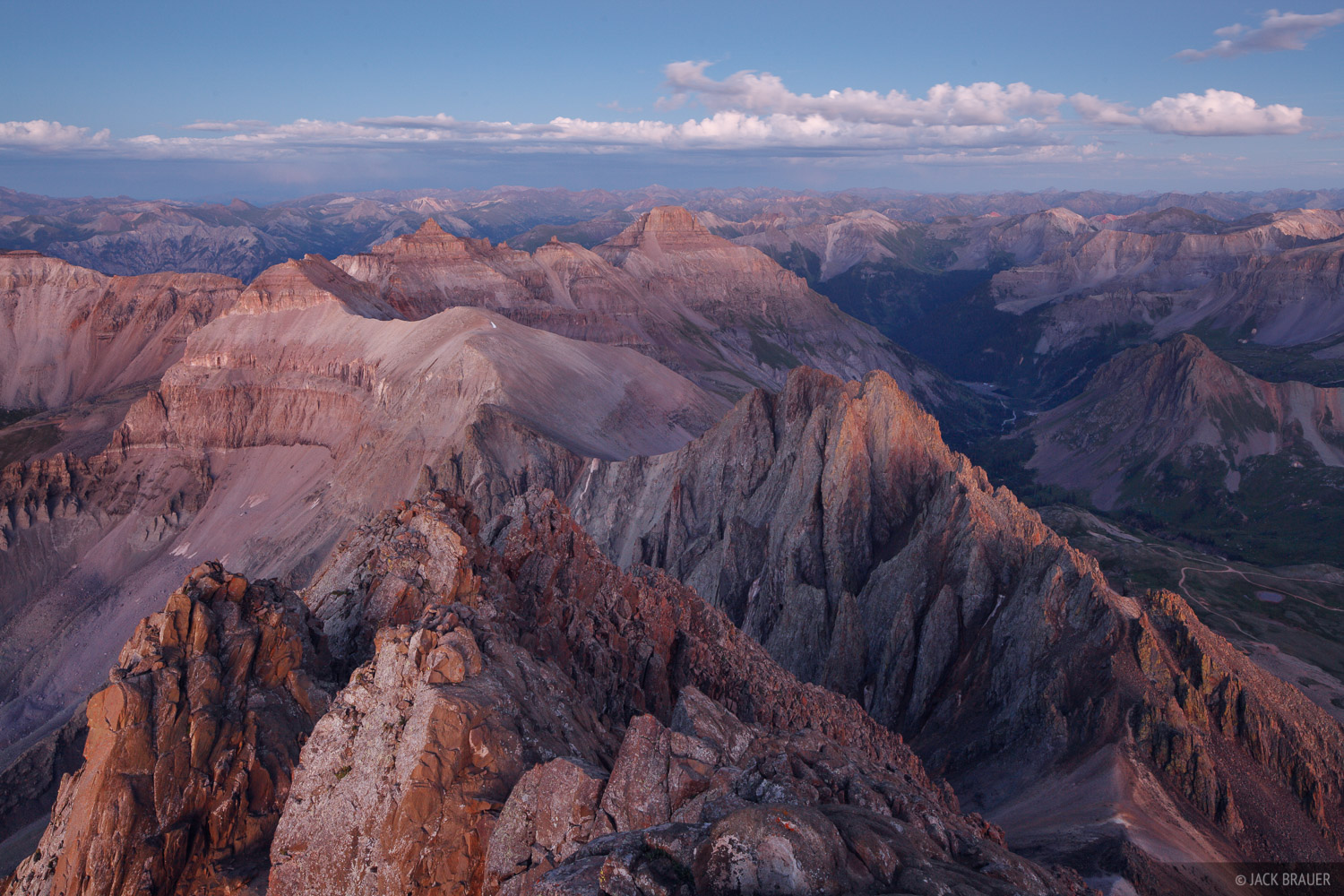Mt. Sneffels, San Juan Mountains, Colorado, summit, photo