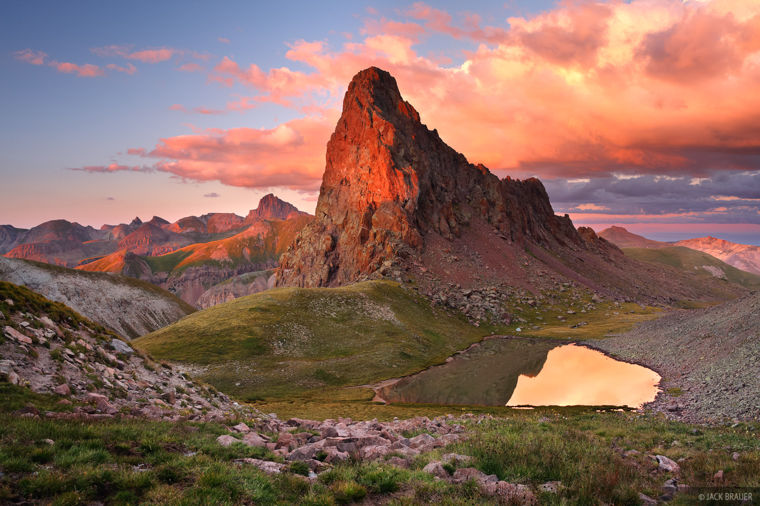 tundra, Uncompahgre Wilderness, San Juan Mountains, Colorado, sunset, photo