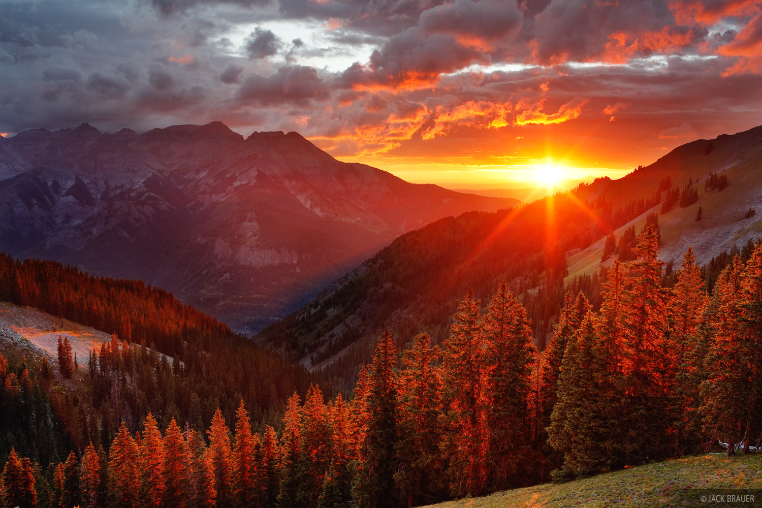 sunset, San Juan Mountains, Colorado, photo