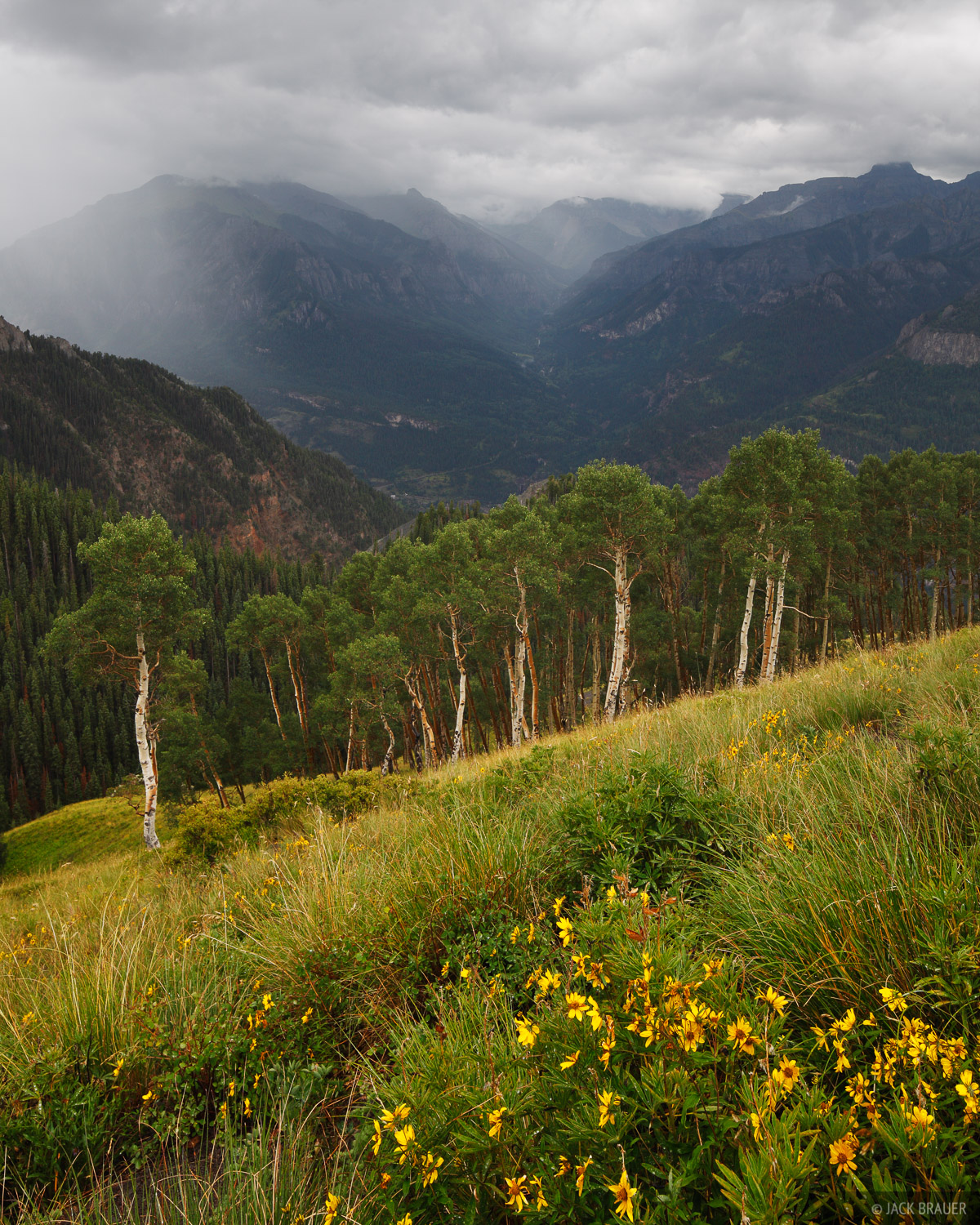 rain, Bridge of Heaven, Ouray, Colorado, San Juan Mountains, photo