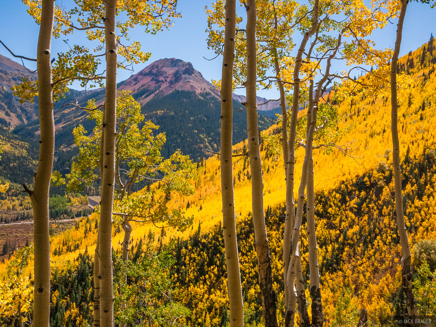Red Mountain Pass, autumn, aspens, San Juan Mountains, Colorado, photo