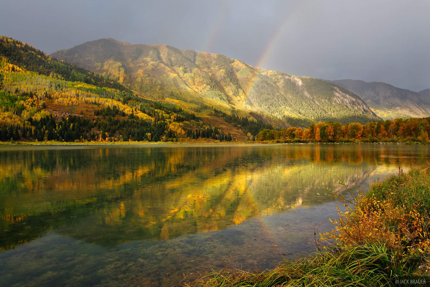 Beaver Lake, Marble, Colorado, rainbow, photo