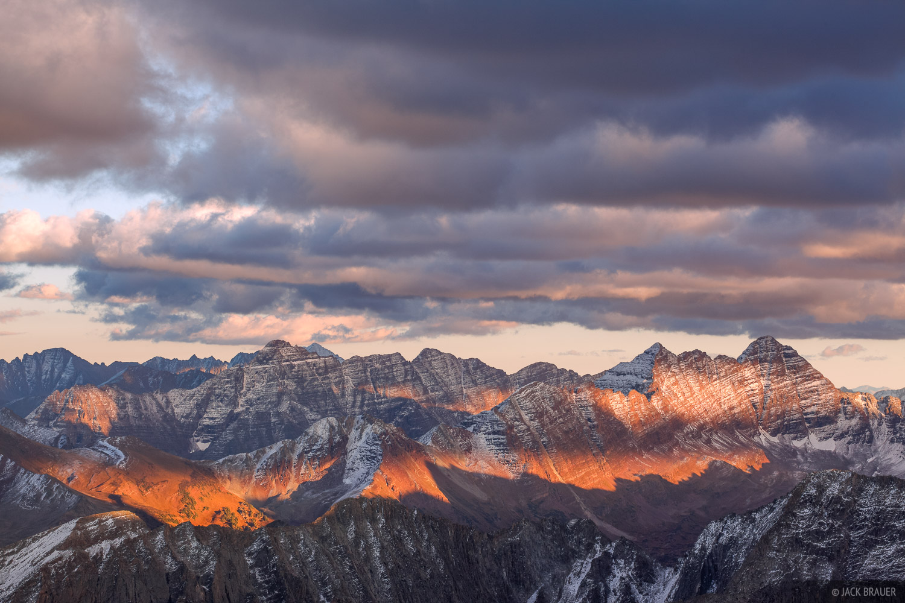 Elk Mountains, Maroon Bells, Pyramid Peak, sunset, Colorado, Maroon Bells-Snowmass Wilderness, photo