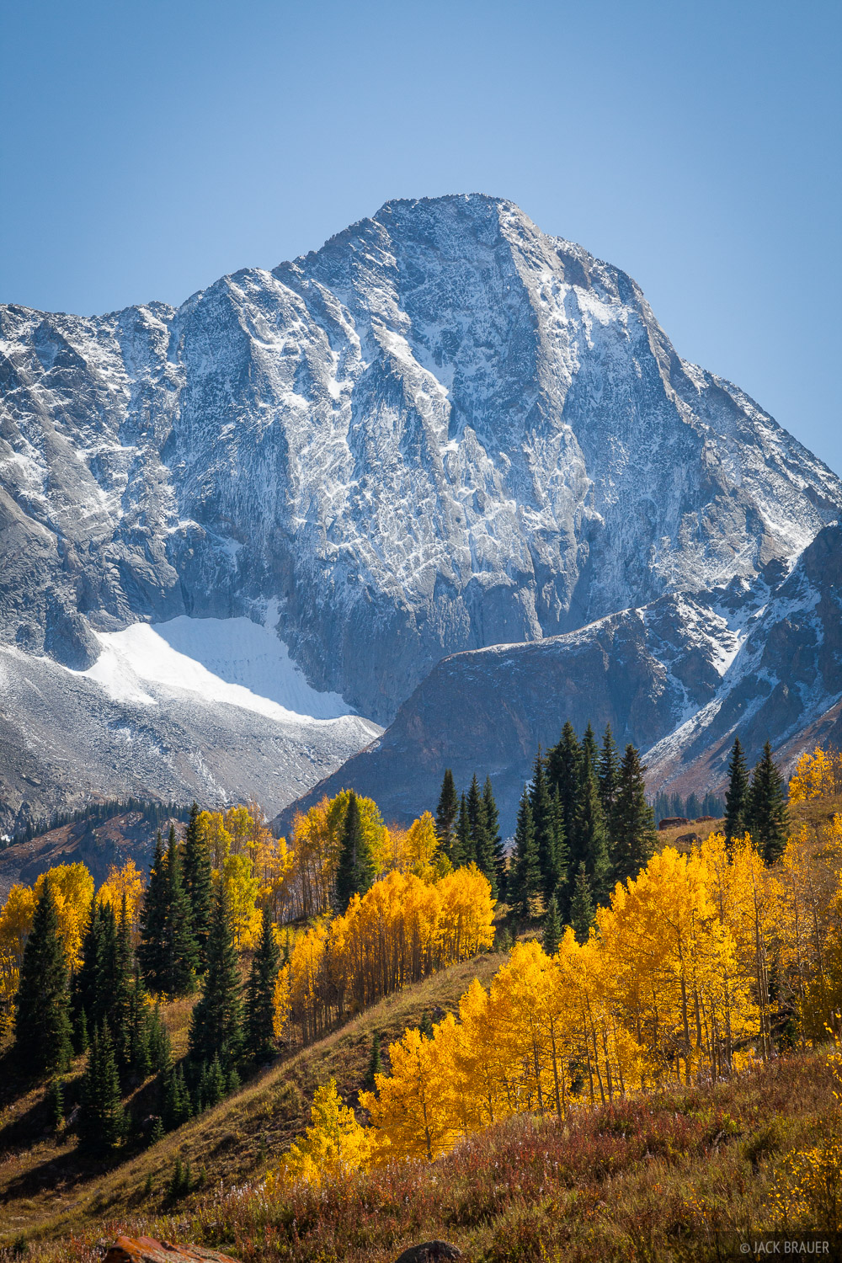 Capitol Peak, Colorado, Elk Mountains, aspens, autumn, fall, Maroon Bells-Snowmass Wilderness, photo